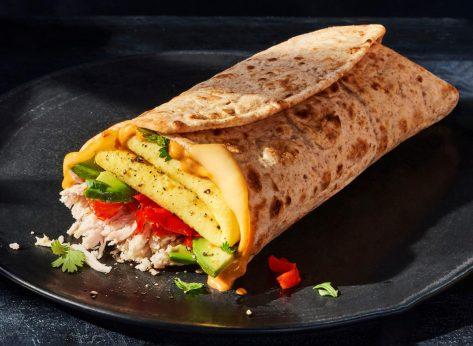 panera bread chipotle chicken egg avocado wrap