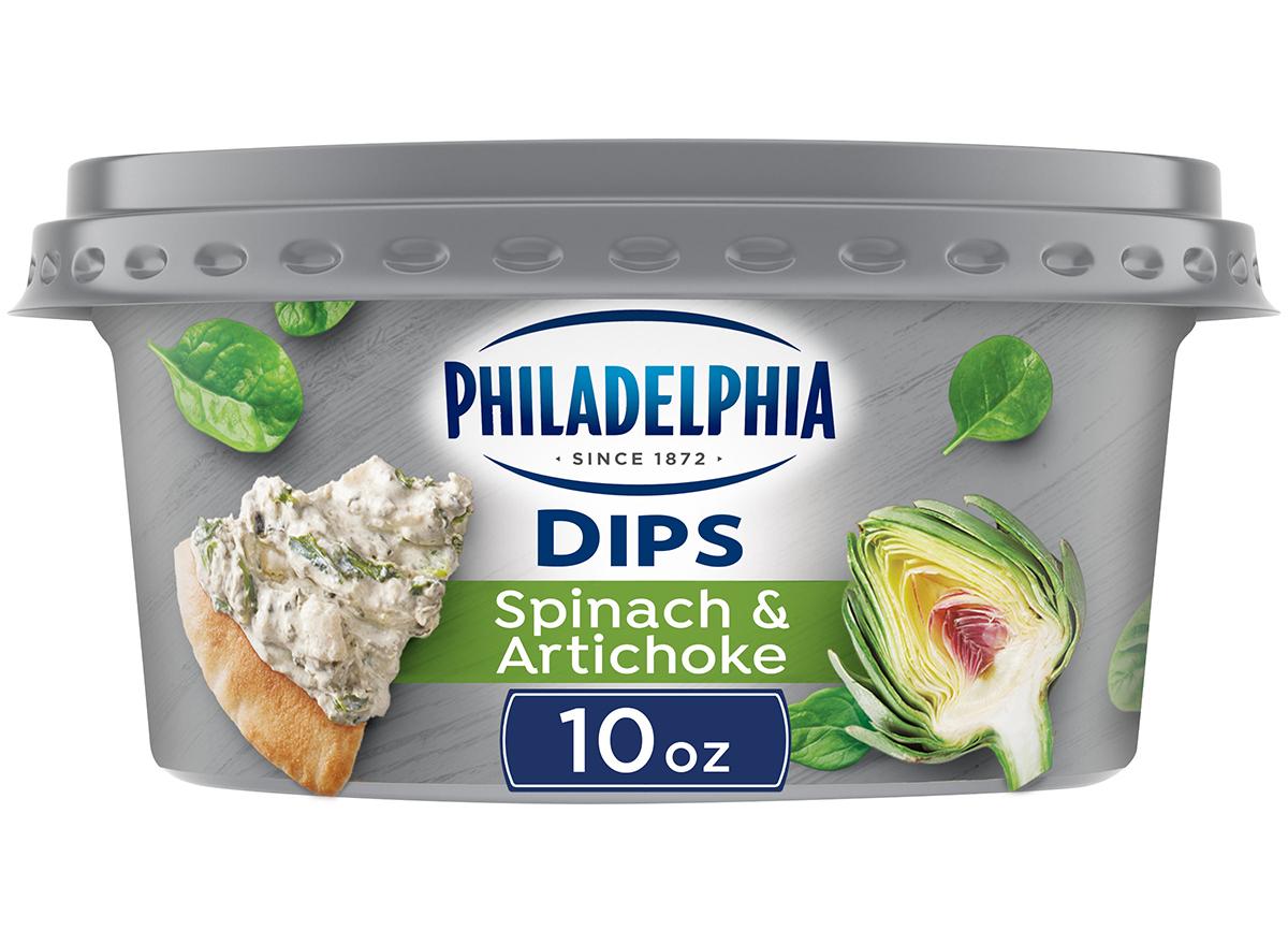 philadelphia spinach and artichoke dip