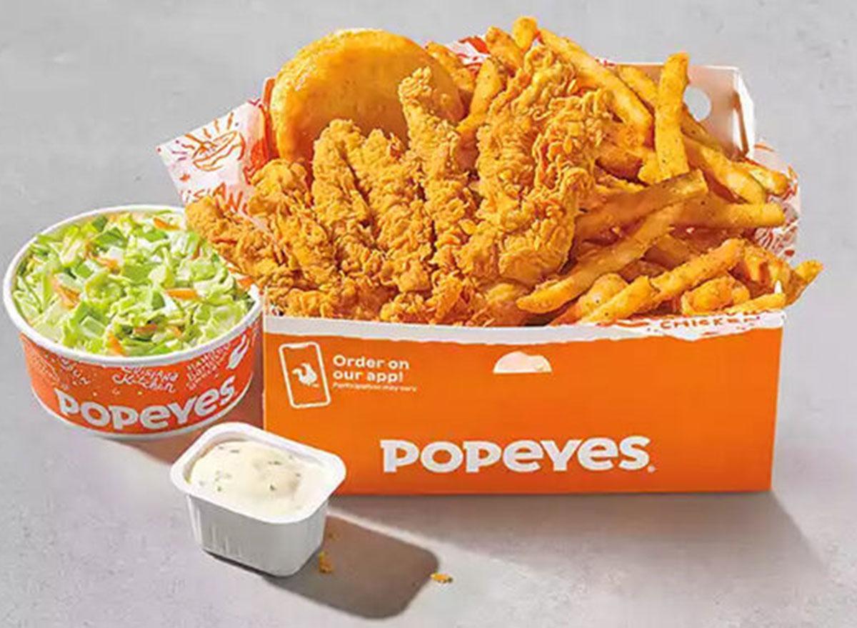 popeyes combo box