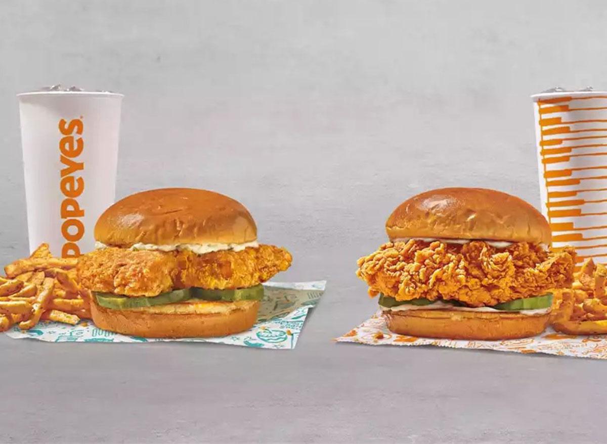 popeyes fish n chicks sandwich bundle