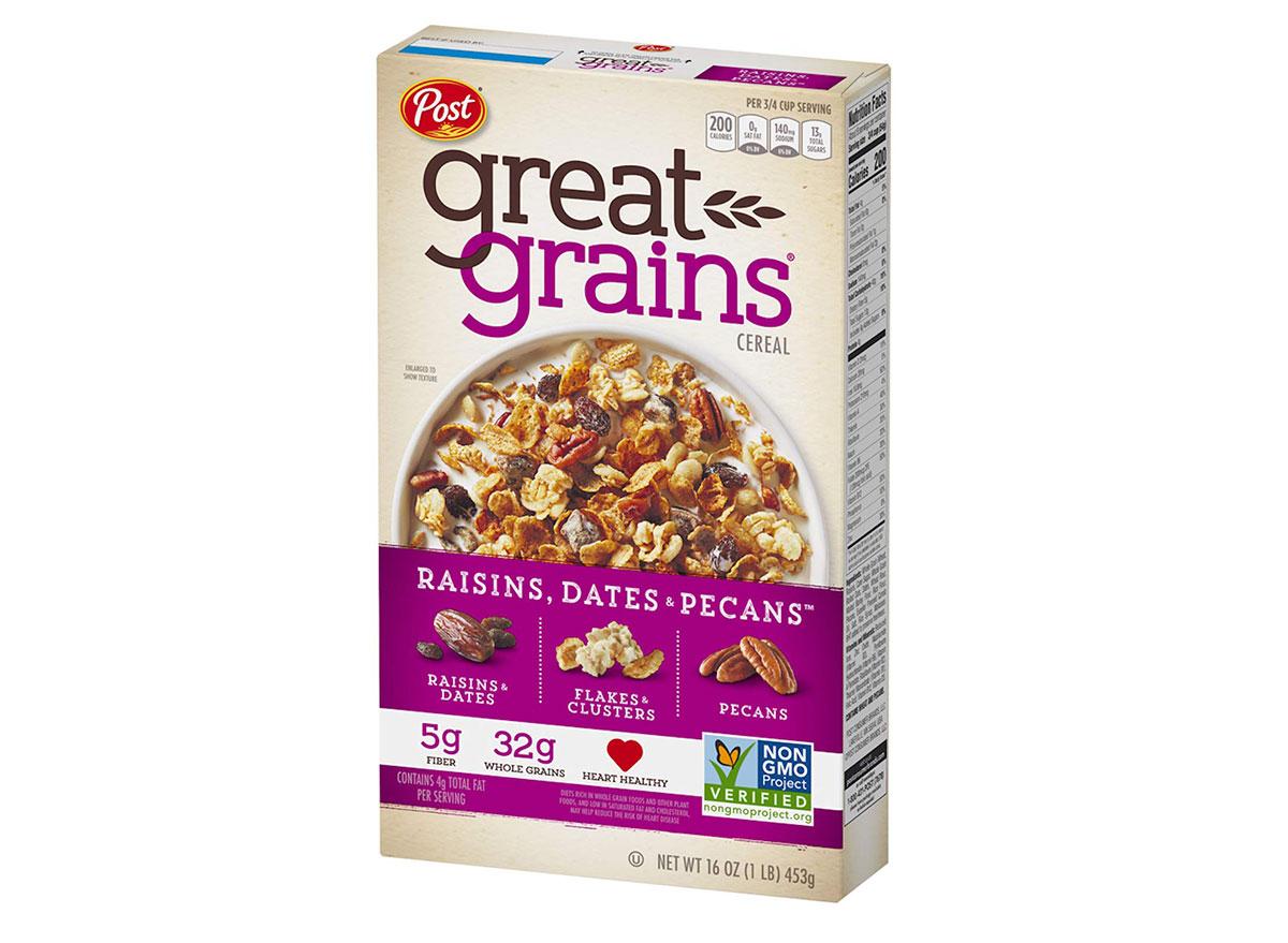 post great grains raisins dates pecans