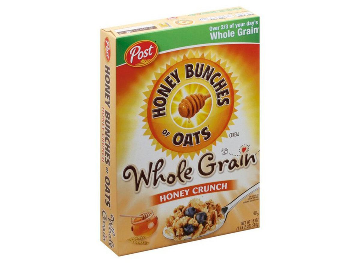 post honey bunches oats whole grain honey crunch