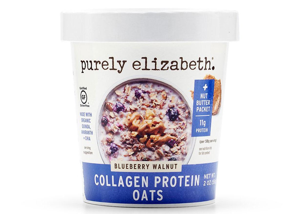 purely elizabeth blueberry and walnut collagen oats
