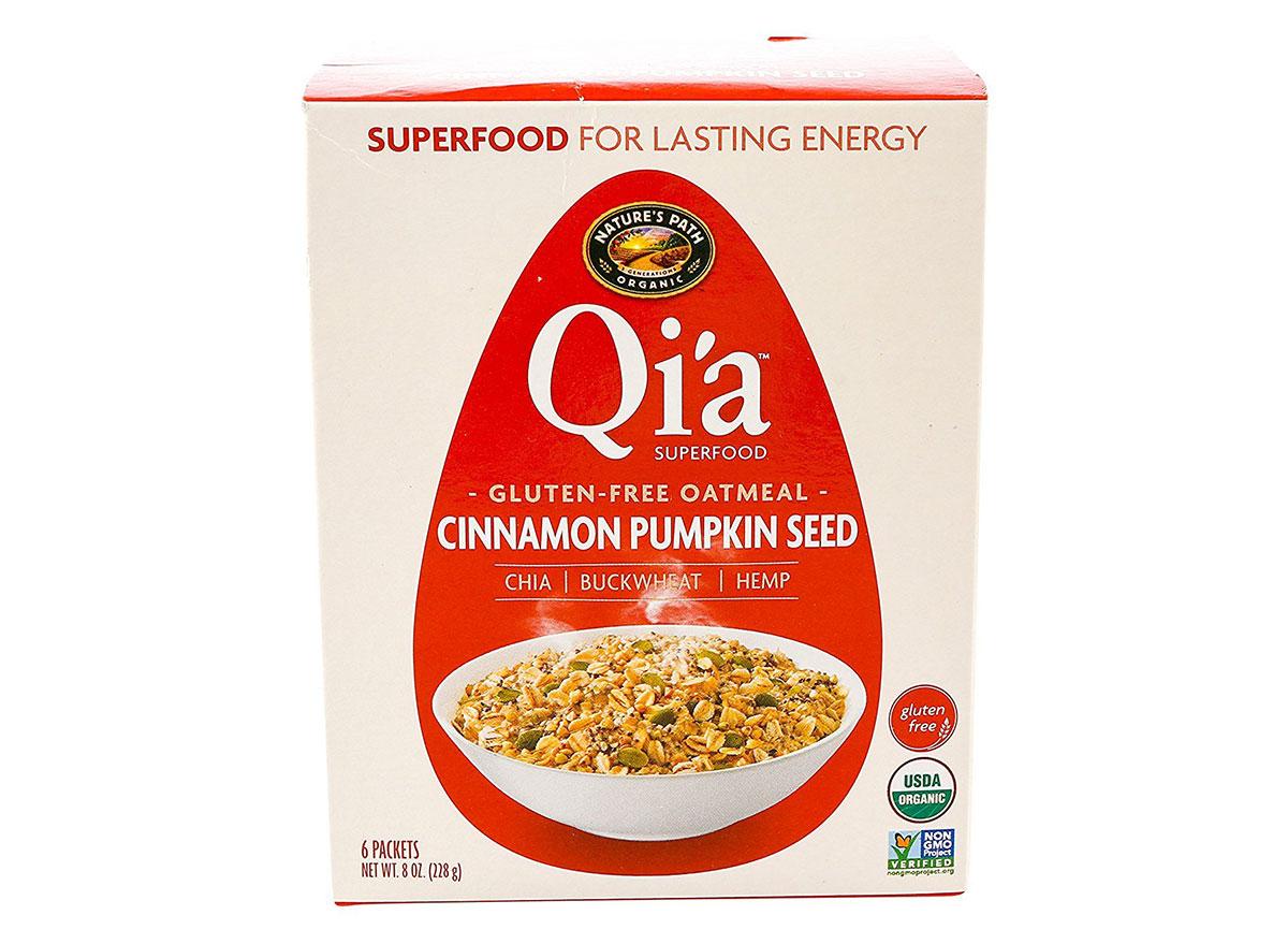 qia cinnamon pumpkin seed oatmeal