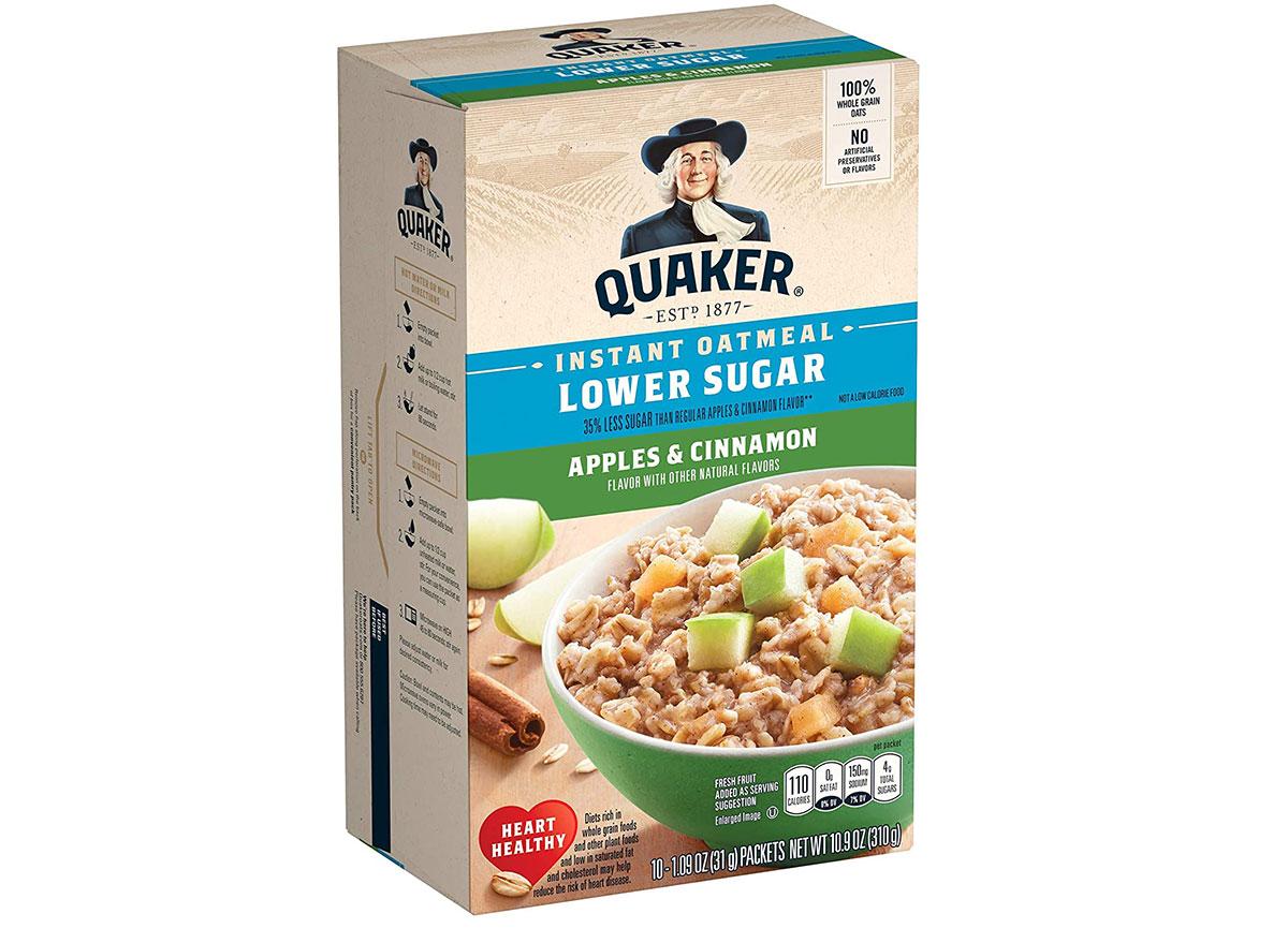 quaker apples cinnamon instant oatmeal