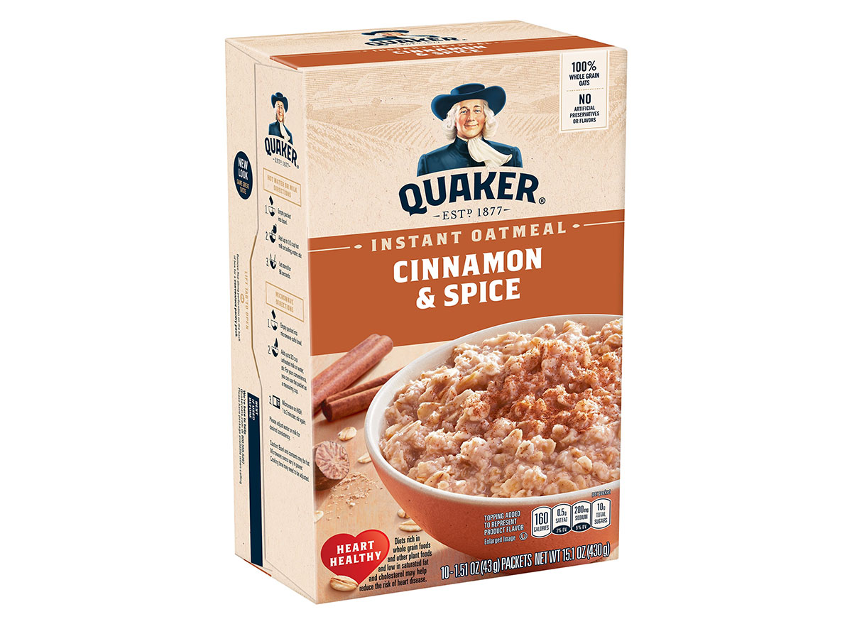 quaker cinnamon spice instant oatmeal