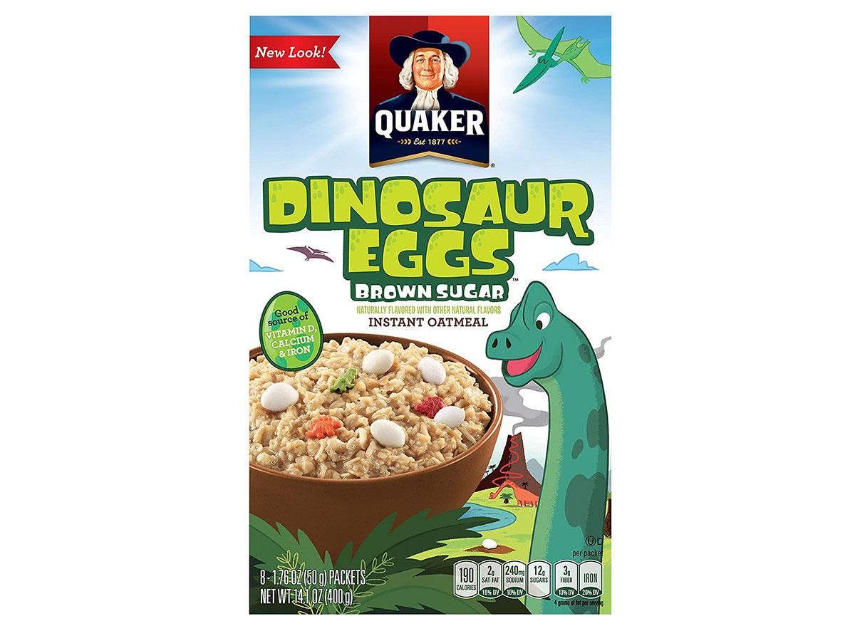 quaker dinosaur eggs oatmeal