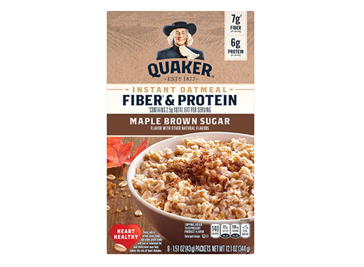 quaker fiber protein maple brown sugar oatmeal