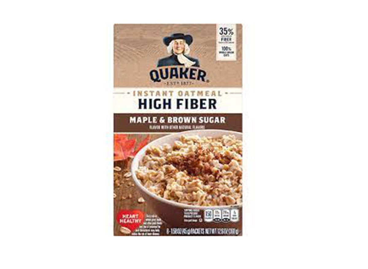 quaker high fiber maple brown sugar oatmeal