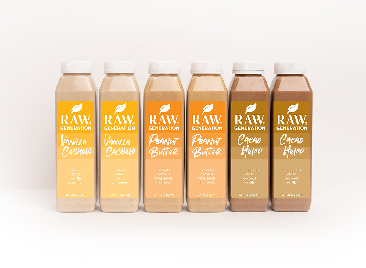 raw generation plant-based smoothies