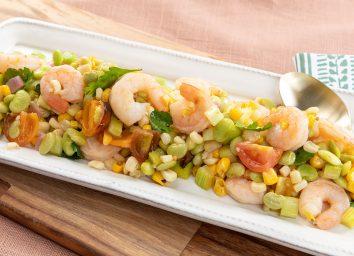 shrimp succotash salad