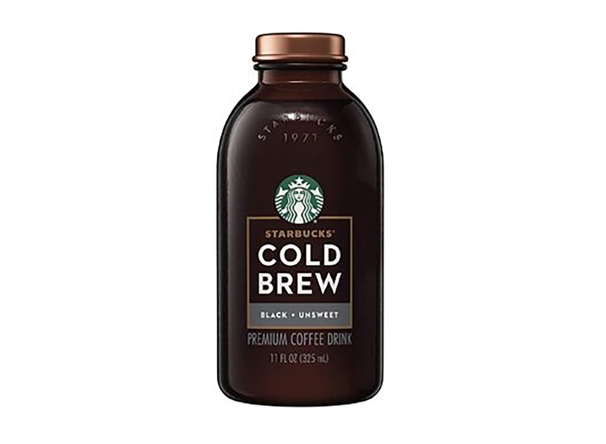 bottle of starbucks cold brew