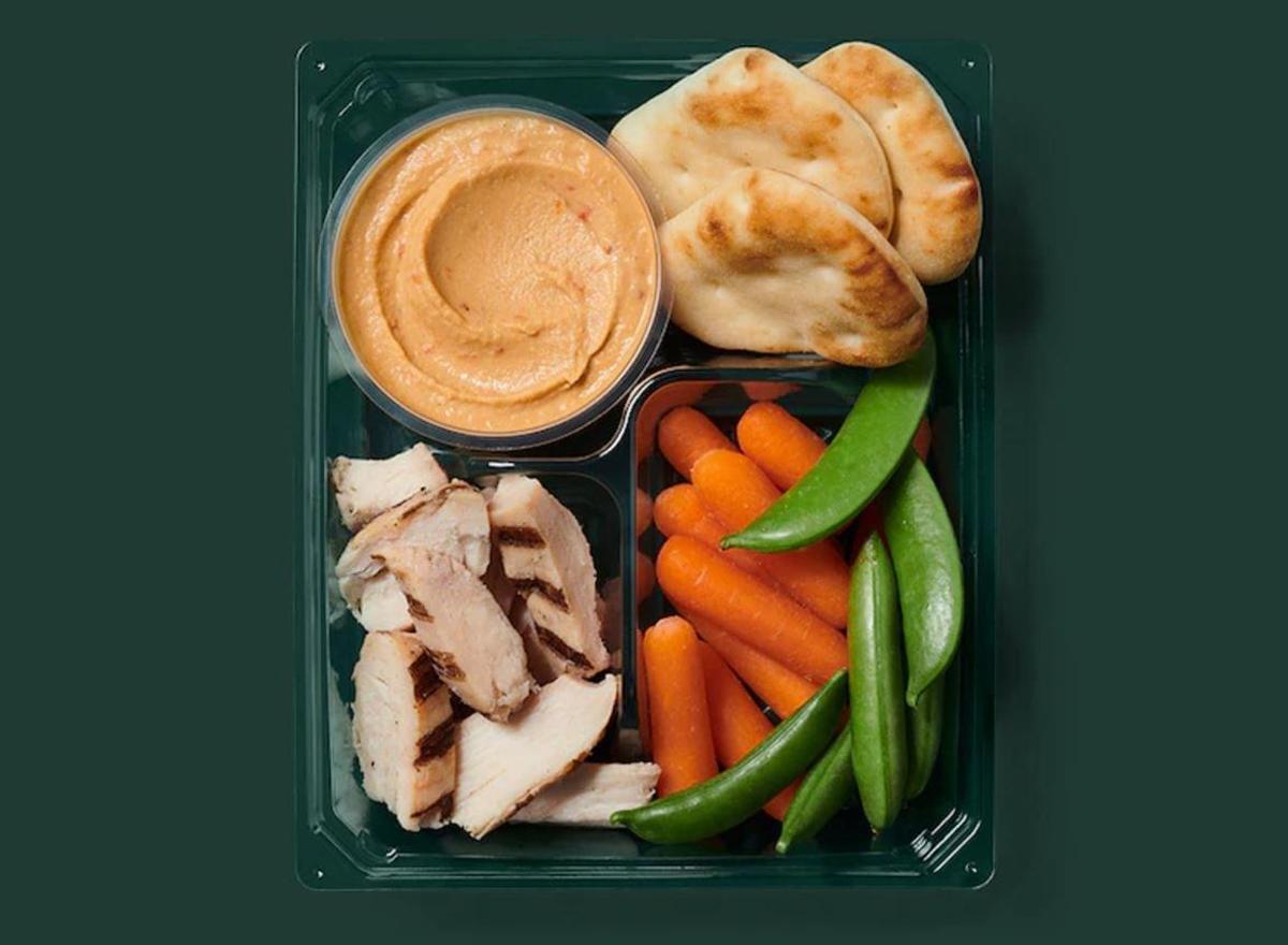 starbucks grilled chicken hummus protein box
