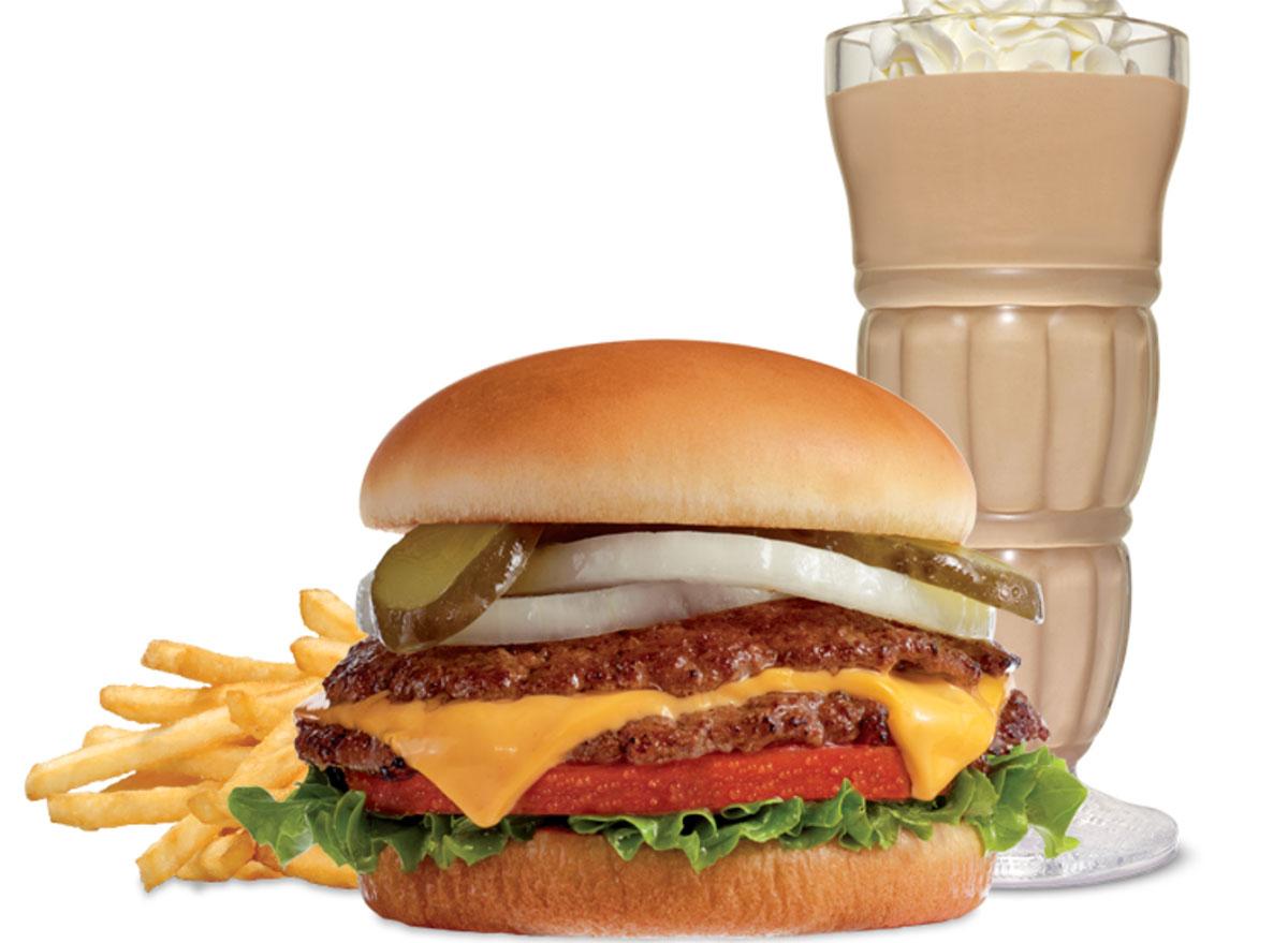 steak-n-shake double cheeseburger