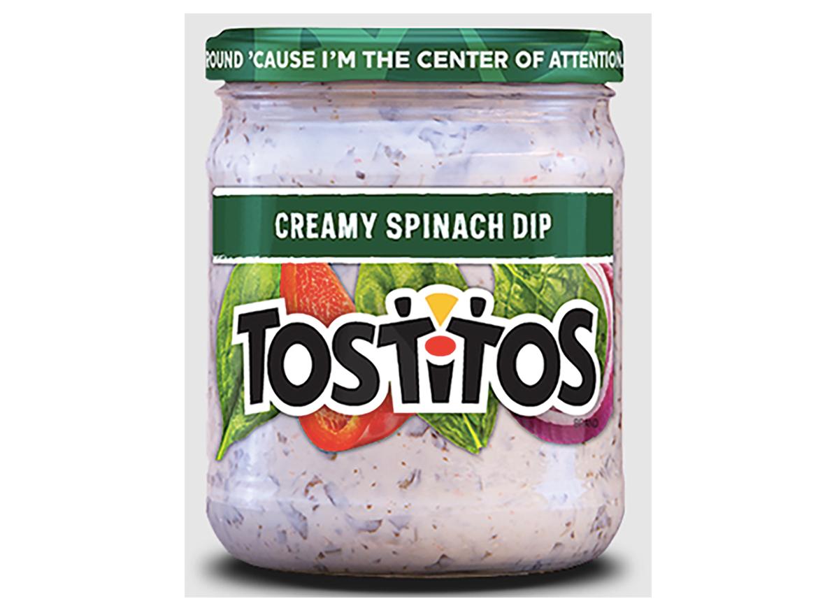 jar of tostitos creamy spinach dip