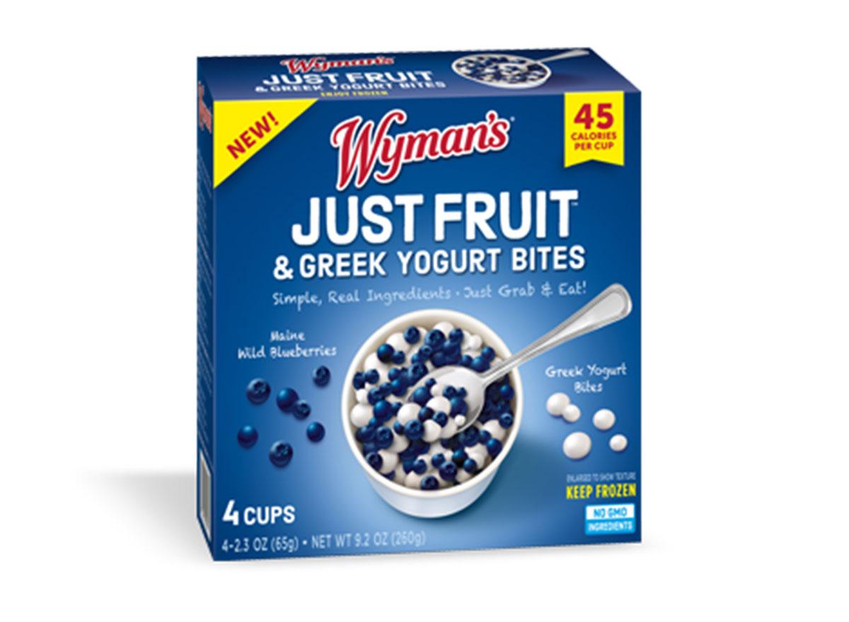 wymans just fruit yogurt bites