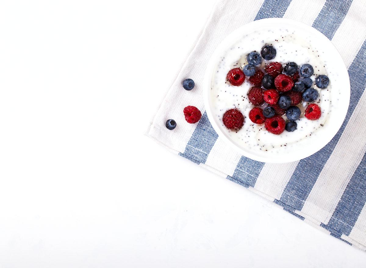 yogurt chia seeds fruit
