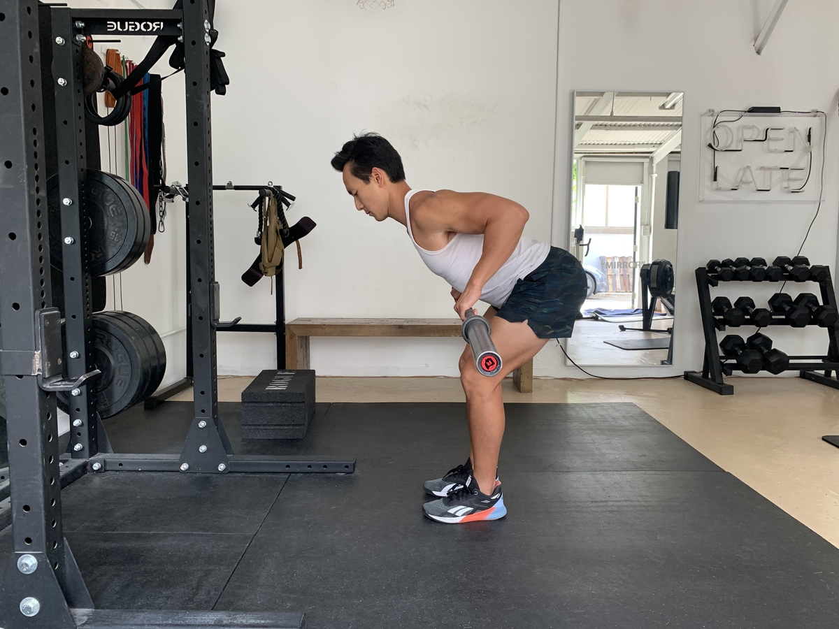 2 barbell bent over rows