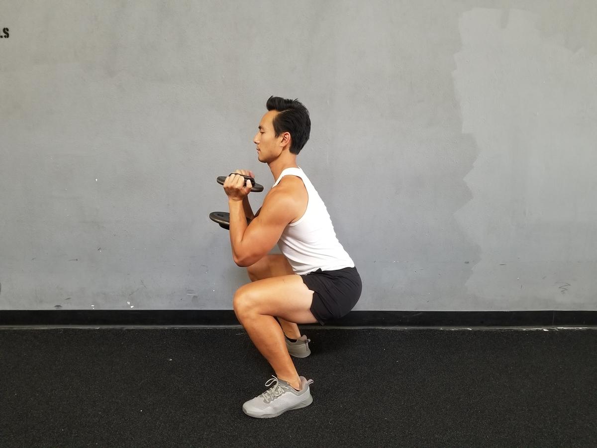 2 goblet squat