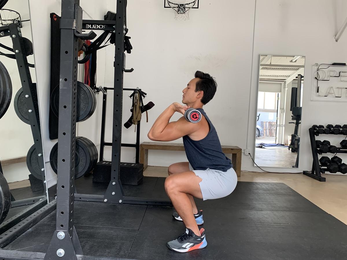 3 front squats