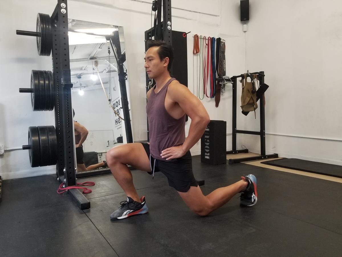 4 split squats