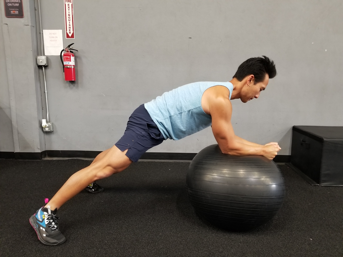 stability ball stir-the-pot abs exercise