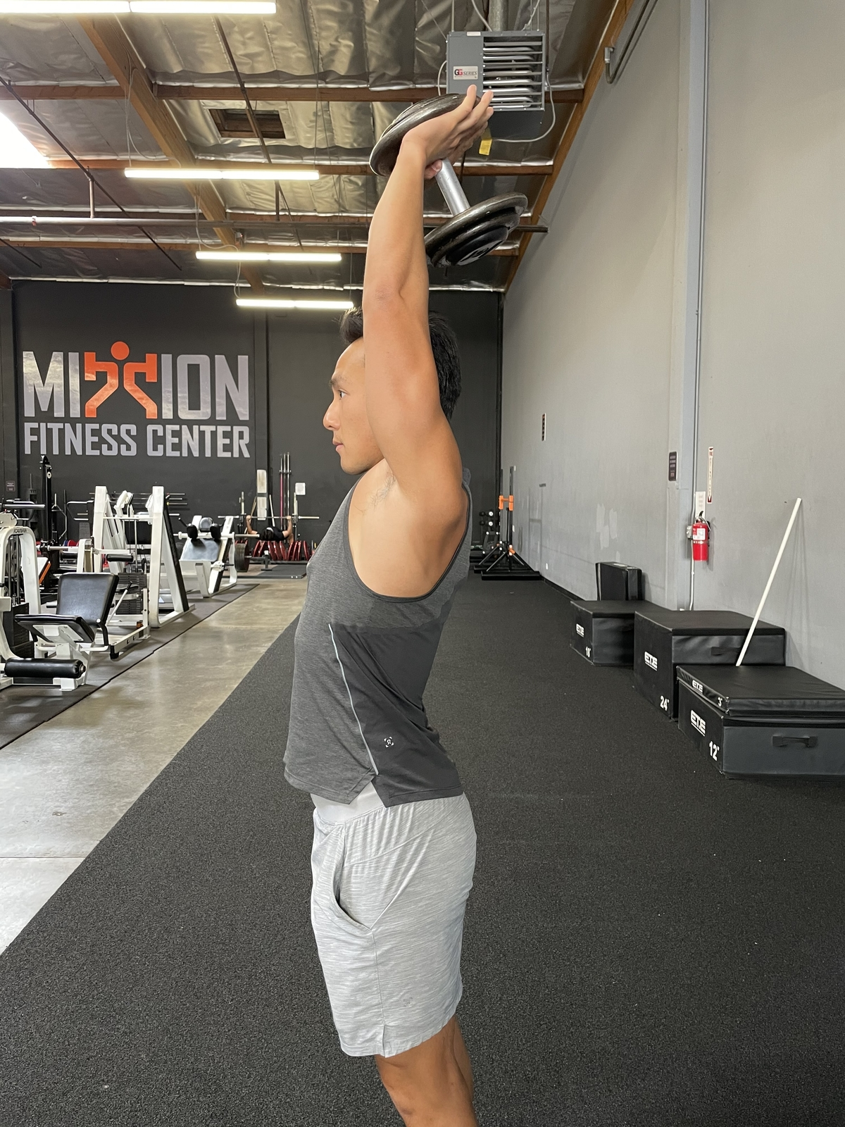 7 - overhead db triceps extensions