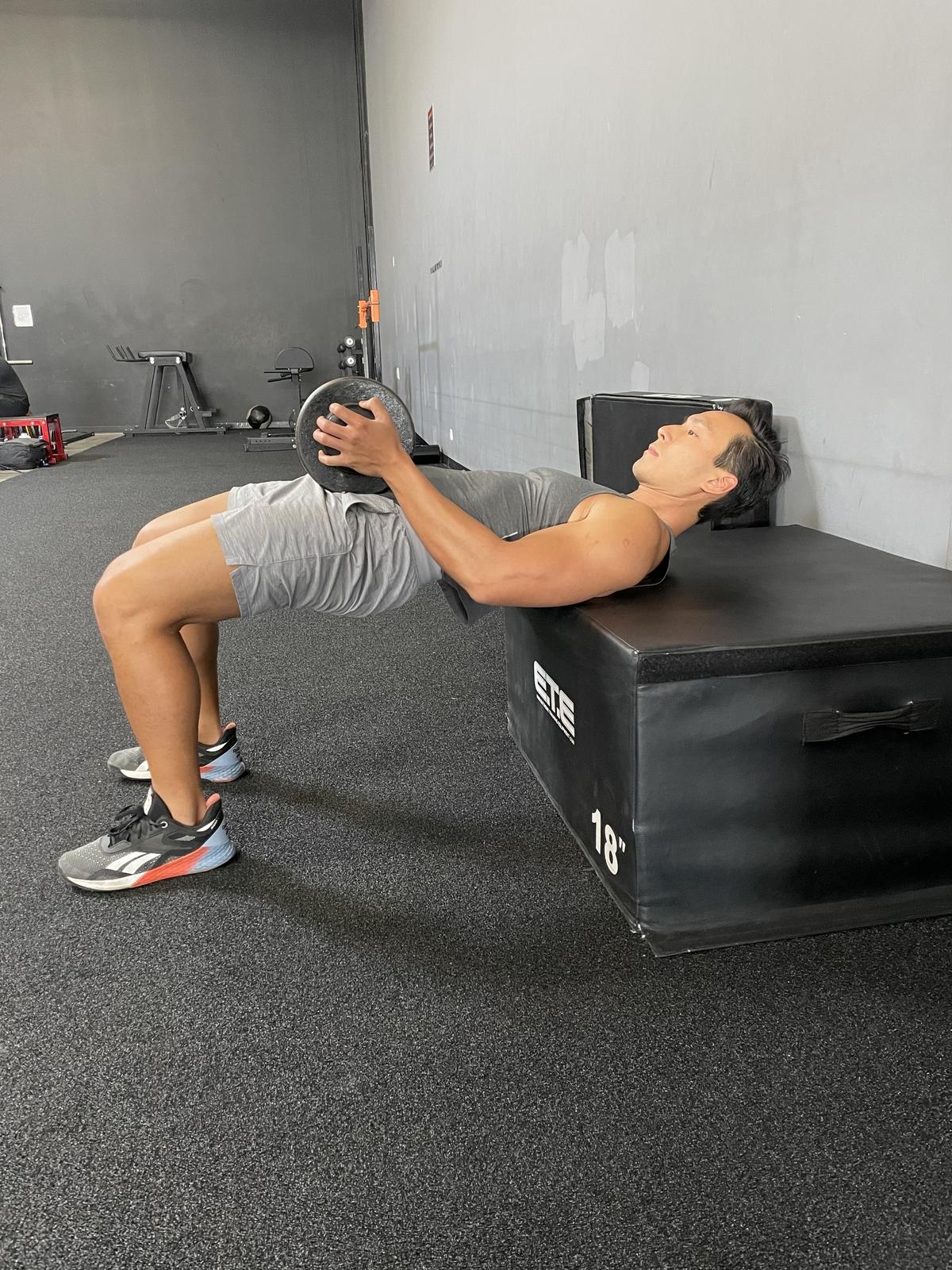 8 - dumbbell hip thrust