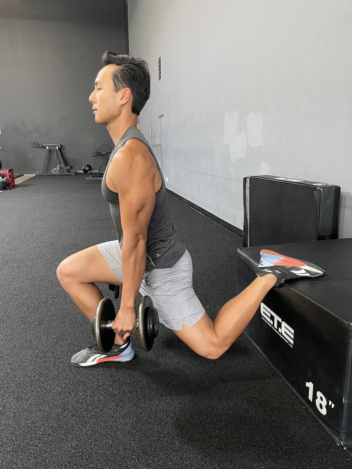 9 - bulgarian split squat