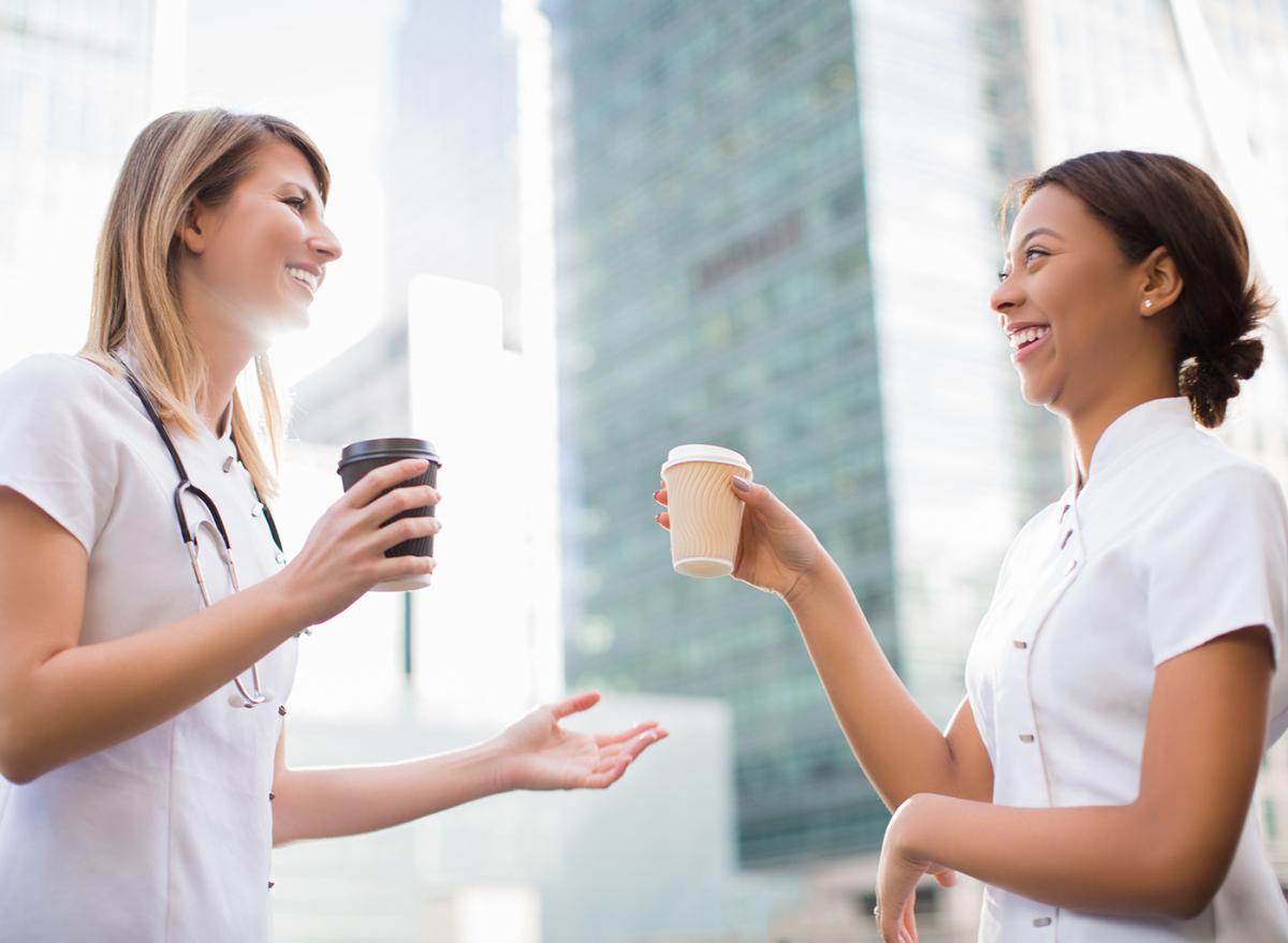 nurses, coffee