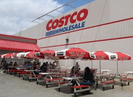 Costco outdoor seating