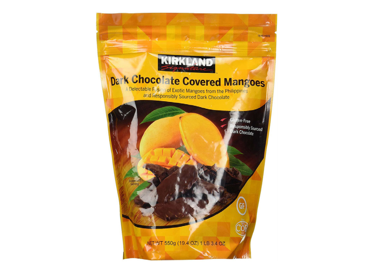 Costco Kirkland Dark Chocolate Covered Mangoes