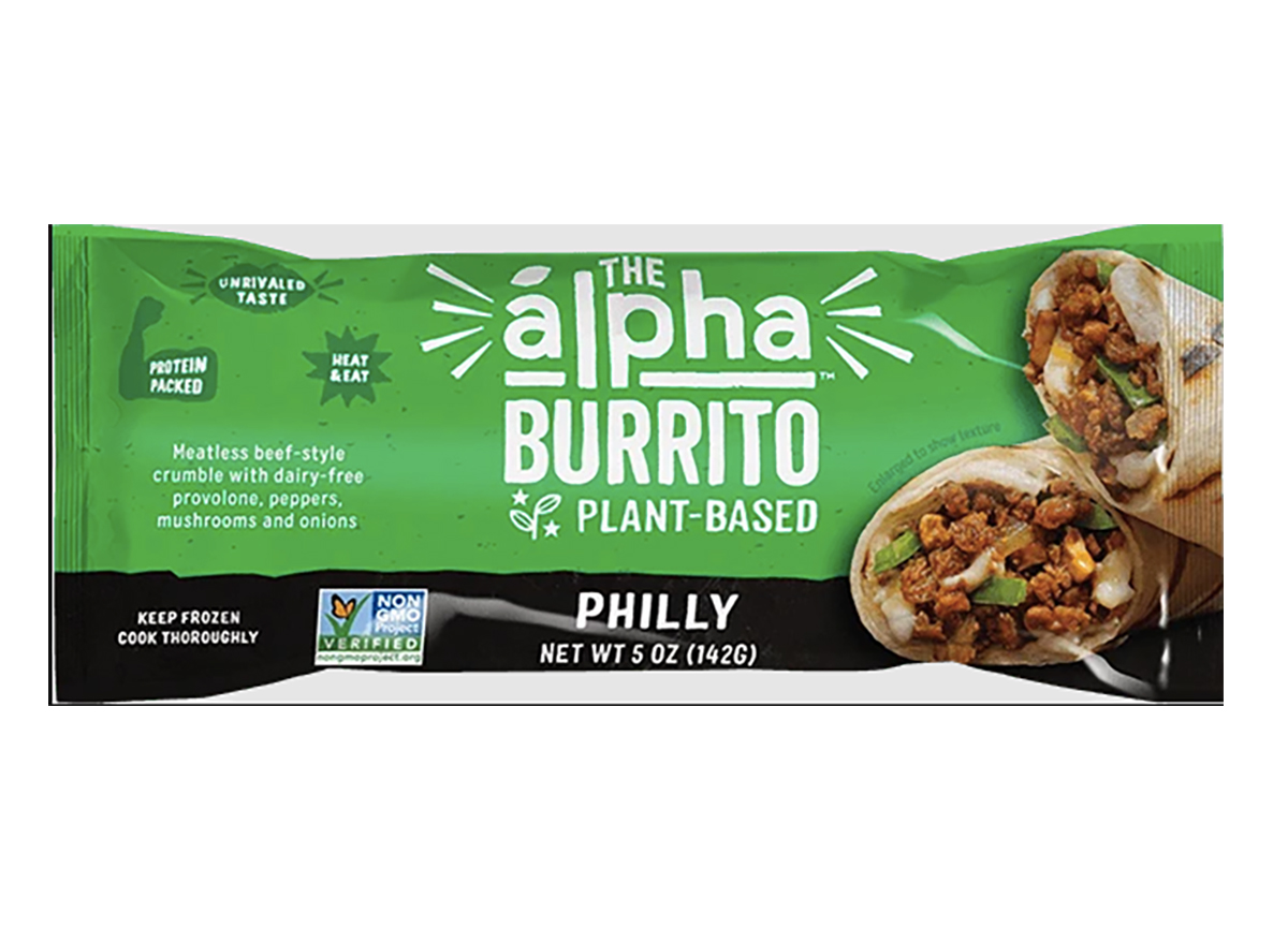 frozen alpha philly burrito