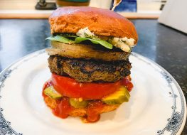 beef burger mushrooms