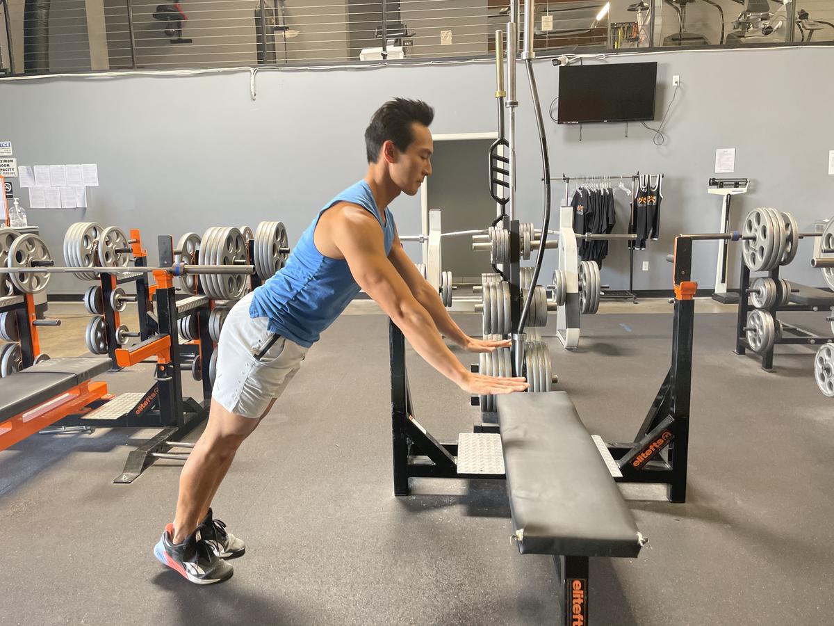 bench plyometric pushups