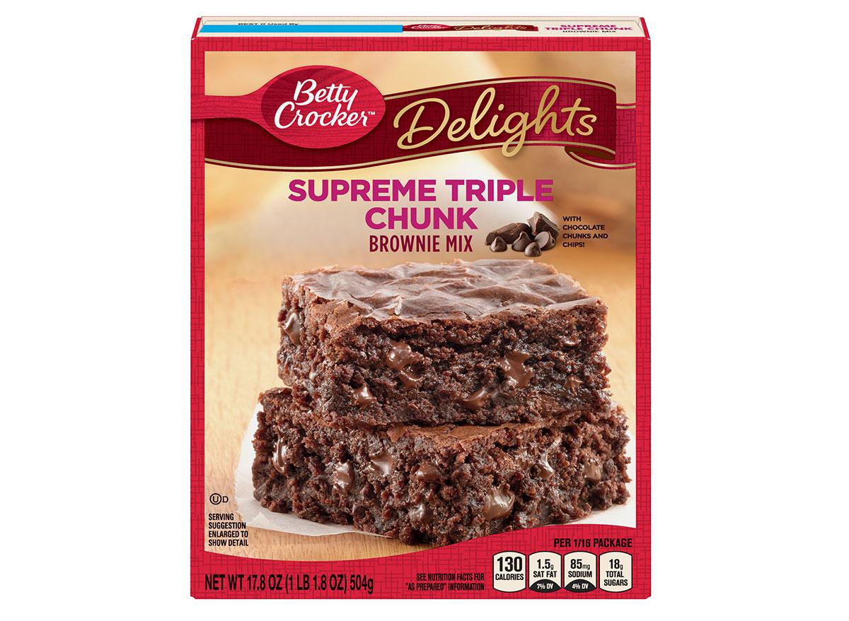betty crocker supreme triple chunk brownies