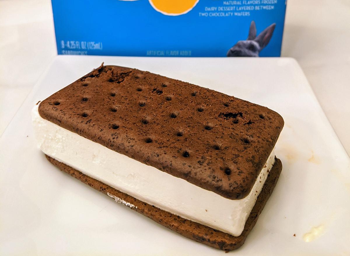 blue bunny ice cream sandwich