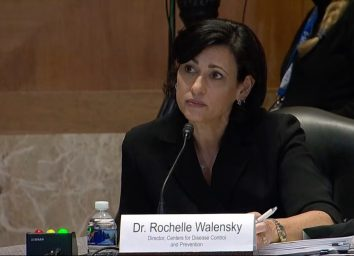 The CDC Chief Rochelle Walensky testifying before congress.