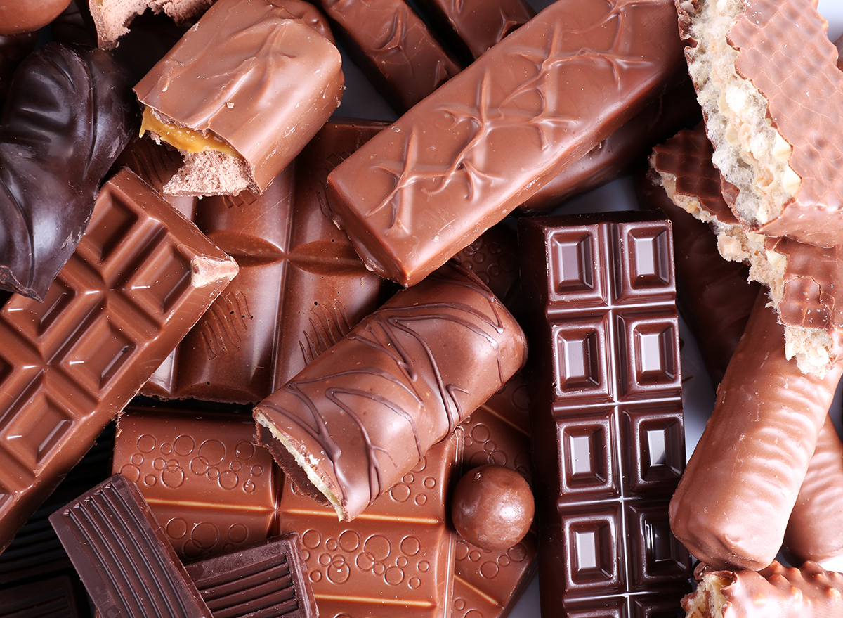 mix of chocolate bars on table