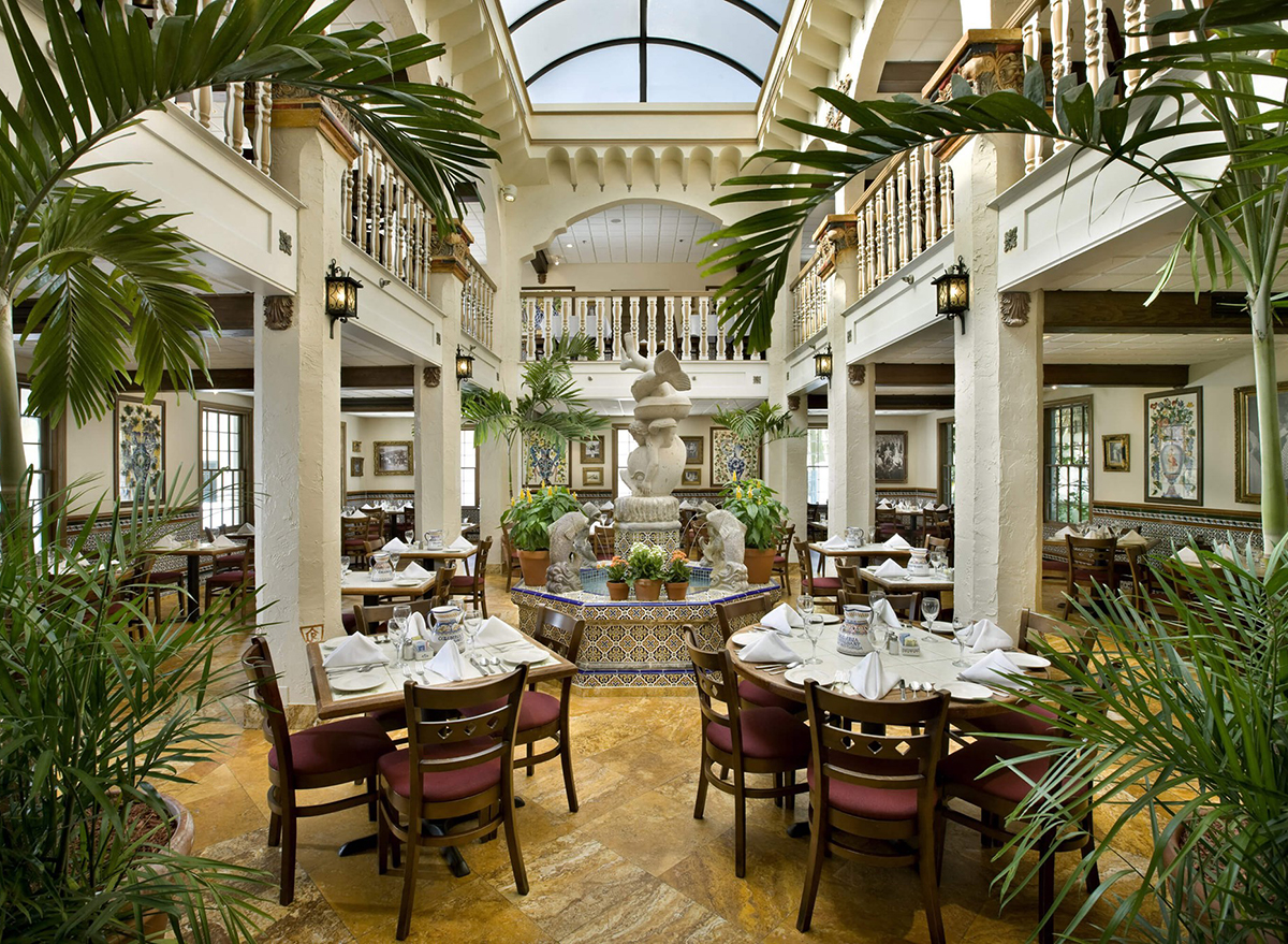 atrium of columbia restaurant in florida