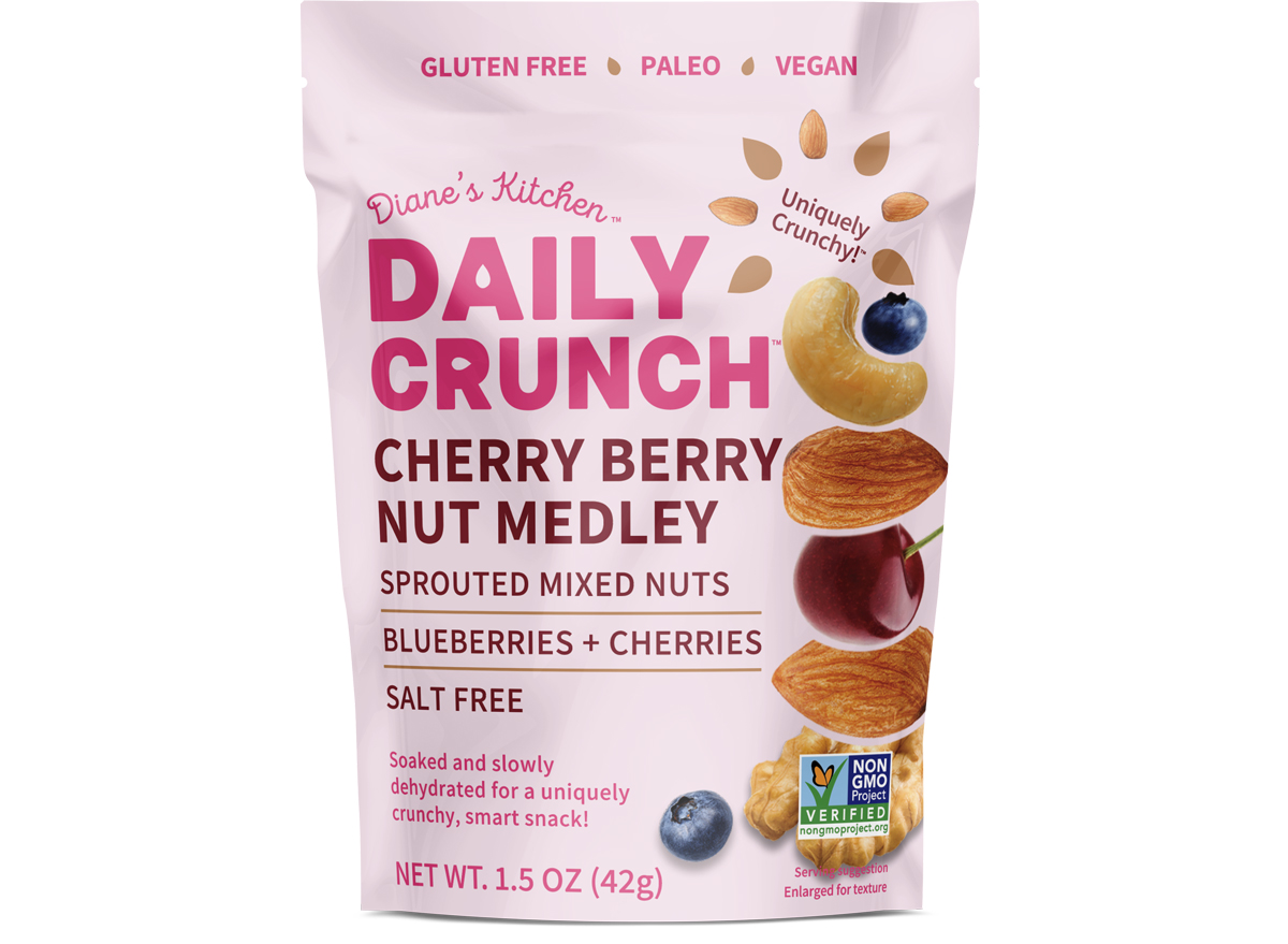 Daily Crunch Snacks Cherry Berry Sprouted Nut Medley Box