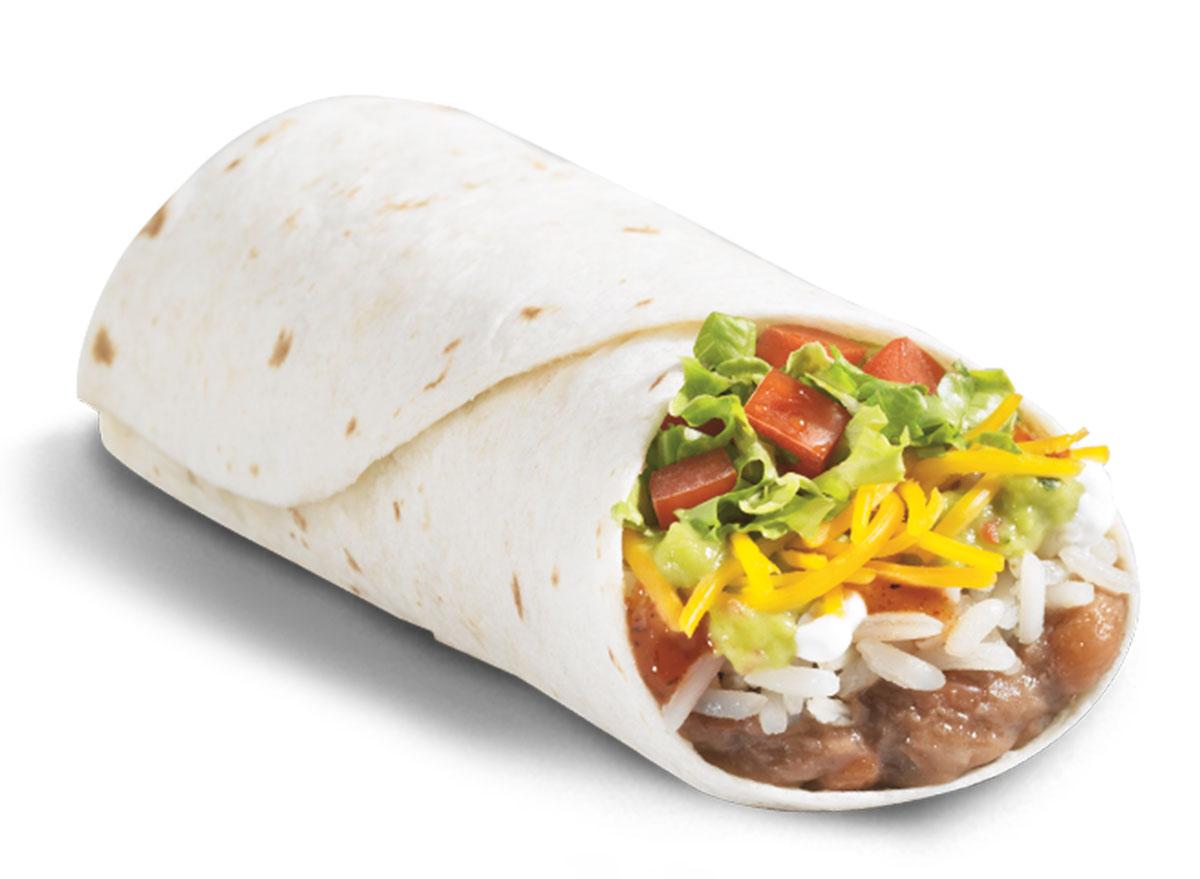 del taco 8 layer veggie burrito