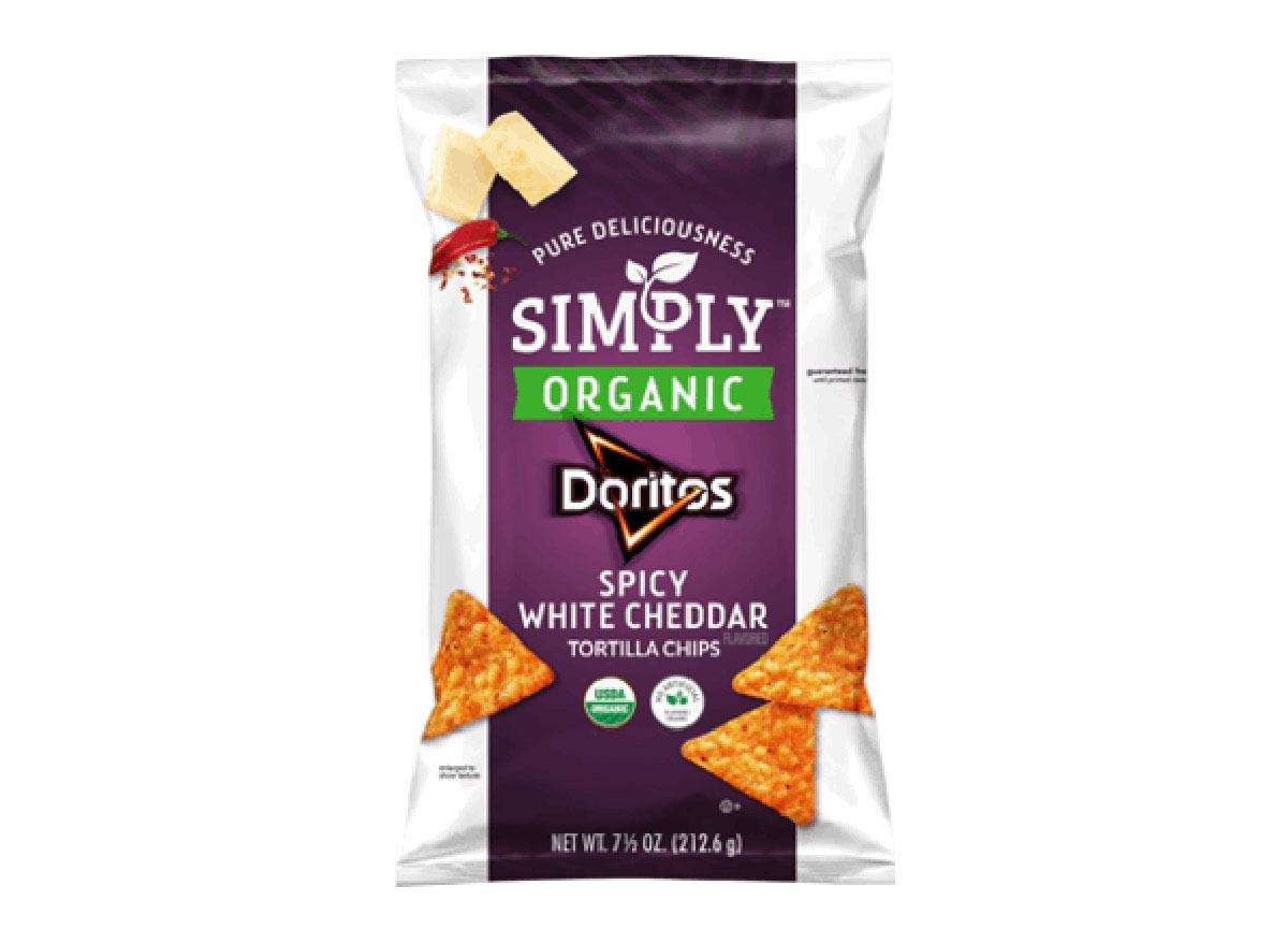 doritos simply organic spicy white cheddar