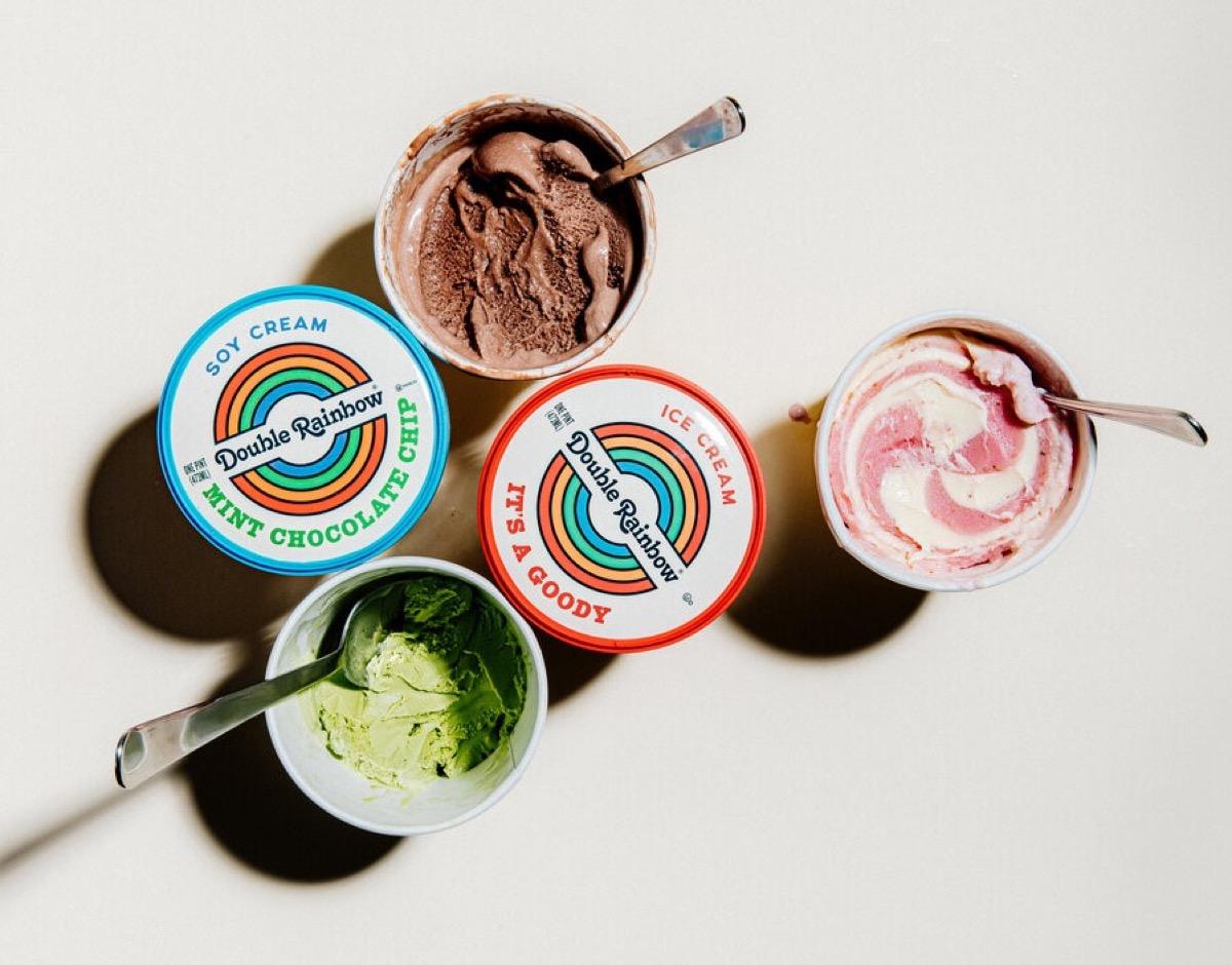 Double Rainbow Ice Cream