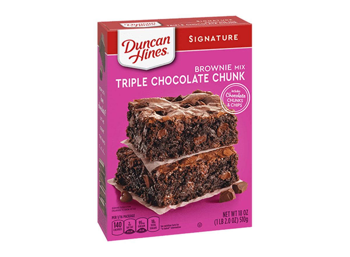 duncan hines triple chocolate chunk