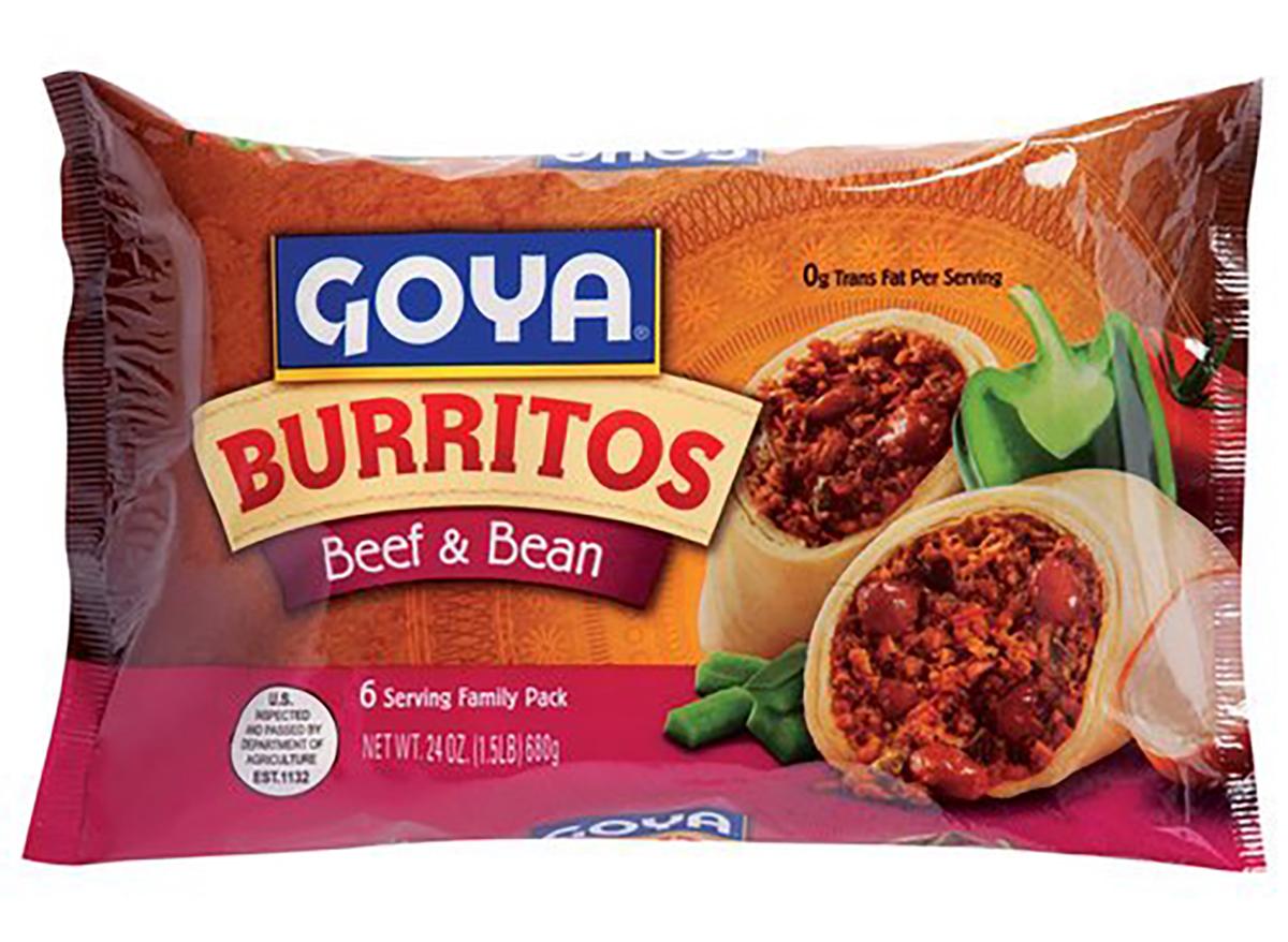 goya beef and bean burrito