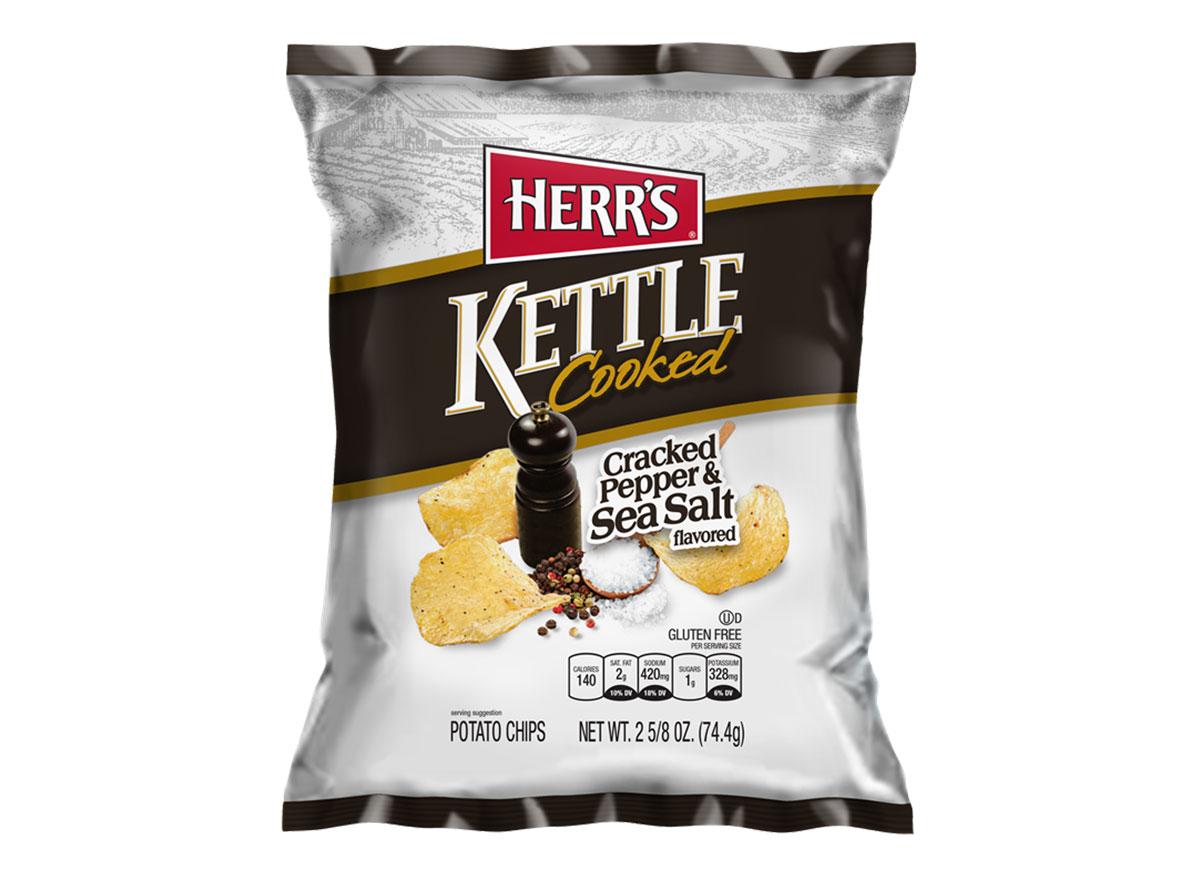 herrs kettle cooked salt pepper