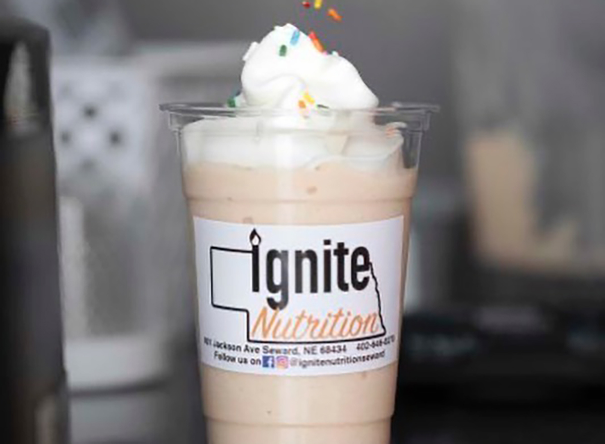 shake with whipped cream from ignite nutrition
