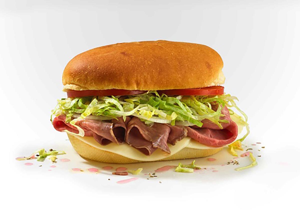 jersey mikes roast beef provolone mini sandwich