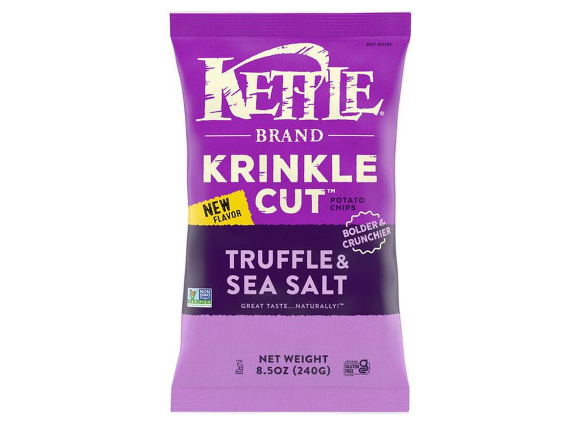 kettle brand krinkle cut truffle sea salt